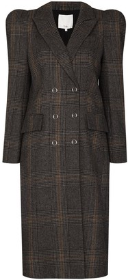 Tibi Puff-Shoulder Double-Breasted Coat