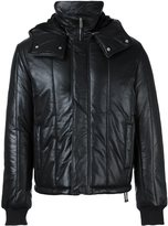 McQ by Alexander McQueen padded leather jacket