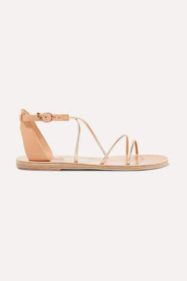 Ancient Greek Sandals Meloivia Metallic Leather Sandals - Gold