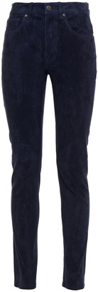 Joseph Cloud Suede Slim-leg Pants