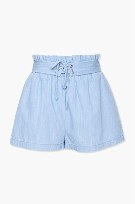 Forever 21 Lace-Up Paperbag Shorts