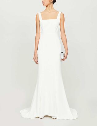 Whistles Mia square-neck crepe wedding gown