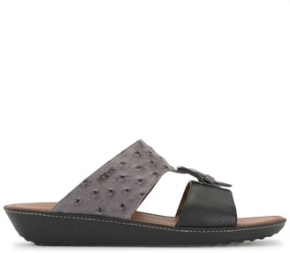 Tod's Two-Tone Leather Sandals