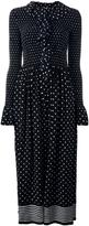Stella McCartney ruched neckline dot dress - women - Silk - 42