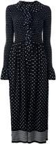 Stella McCartney ruched neckline dot dress
