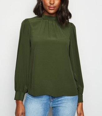 New Look Bright High Neck Blouse