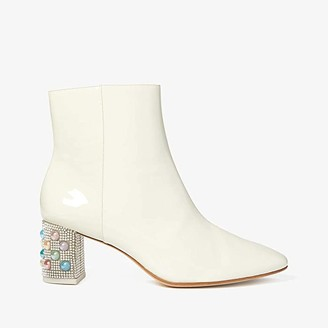 Sophia Webster Toni Mid Ankle Boot (Winter White/Pearl) Women's Shoes