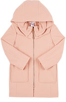 Chloé HOODED MELTON COAT-PINK SIZE 5