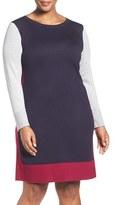 Eliza J Plus Size Women's Colorblock Sweater Dress