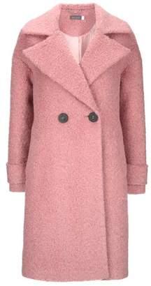 Mint Velvet Rose Pink Boucle Cocoon Coat