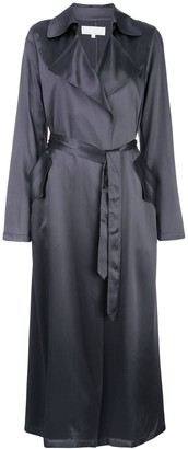 Fleur Du Mal Relaxed-Fit Silk Trenchcoat