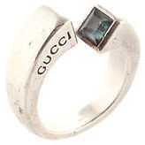 Gucci Blue Topaz Sterling Silver Twist Cocktail Ring Size 8
