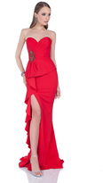 Terani Couture 1611E0188A Strapless Sweetheart Peplum Gown