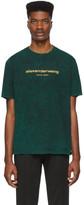 Alexander Wang Green Gold Logo T-Shirt