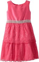 Rare Editions Big Girls' Plus-Size Sequin Tiered Dress