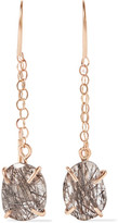 Melissa Joy Manning 14-karat Gold Tourmalated Quartz Earrings - one size
