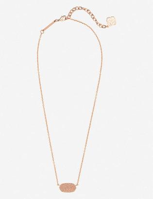 Kendra Scott Elisa 14ct gold-plated and rose quartz stone necklace