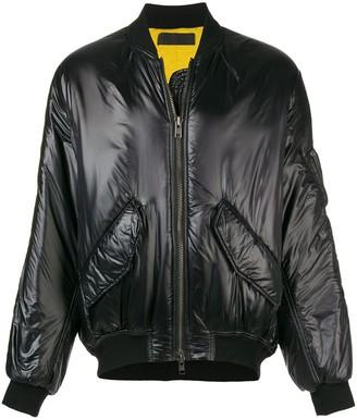 Haider Ackermann zipped up bomber jacket