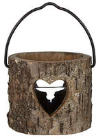 John Lewis Wooden Heart Tealight Lantern