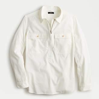 J.Crew Half-zip corduroy shirt jacket