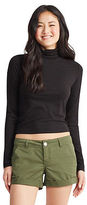 Aeropostale Womens Prince & Fox Solid Ribbed Turtleneck Sweater