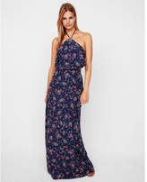 Express floral halter neck maxi dress