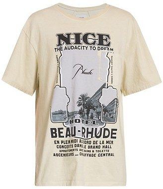 Rhude Nice Graphic Cotton T-Shirt