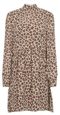 Dorothy Perkins Womens **Vila Multi Colour Leopard Print Swing Dress, Leopard