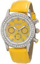 August Steiner Women's AS8018YL Multi-Function Dazzling Strap Watch