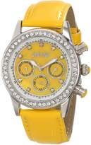 August Steiner Women's AS8018YL Multi-Function Dazzling Strap Watch