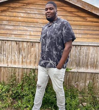 Topman Big & Tall super skinny jeans in grey