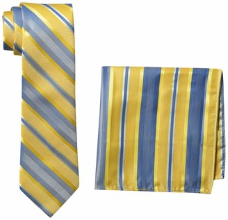 Perry Ellis Men's Tie & Pocket Square Set