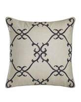 "Sferra Dante 20""Sq. Beaded Scrollwork Pillow"