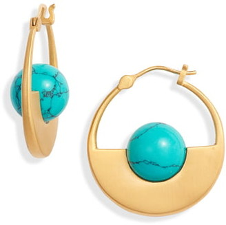 Dean Davidson Nomad Collection Turquoise Hoop Earrings