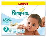 Pampers New Baby Sensitive Size 2 Large Pack 60 Nappies - Pack of 2