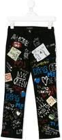 Dolce & Gabbana graffiti print jeans