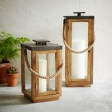 west elm Wood + Rope Lanterns