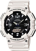 Casio Mens Black Dial White Resin Strap Solar Sport Watch AQ-S810WC-7A