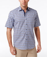 Tasso Elba Men's Grid and Diamond Cotton Shirt, Only at Macy's