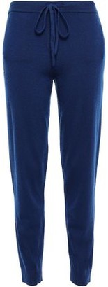 Chinti and Parker Embroidered Wool And Cashmere-blend Track Pants