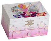 Mele Ashley Girls' Musical Ballerina Fairy and Flowers Jewelry Box-Pink