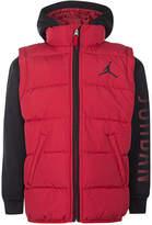 Jordan Aj Hooded Layered-Look Puffer Vest Jacket, Little Boys