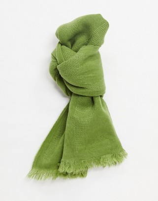 ASOS DESIGN lightweight scarf in khaki
