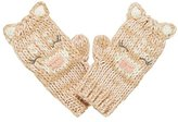 Mothercare Girl's Novelty Deer Beige Mittens, Beige, One Size (Manufacturer Size:2)