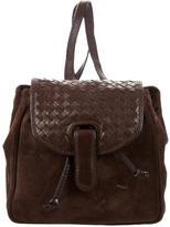 Bottega Veneta Intrecciato-Trim Backpack