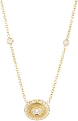 Penny Preville 18k Gold & Diamond Oval Pendant Necklace