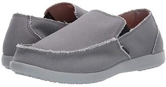 Crocs Santa Cruz (Charcoal/Light Grey) Men's Slip on Shoes