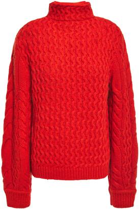 Victoria Victoria Beckham Cable-knit Turtleneck Sweater
