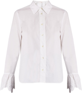 See by Chloe Embroidered-cuff cotton-poplin shirt