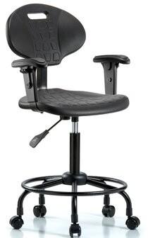 Blue Ridge Ergonomics Drafting Chair Casters/Glides: Casters